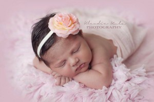 Peach rose ivory headband