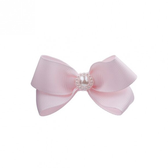 Small double bow with pearl
