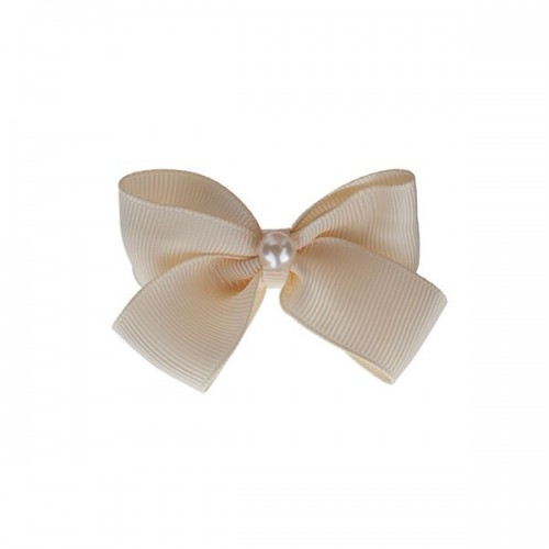 Small double bow with large pearl